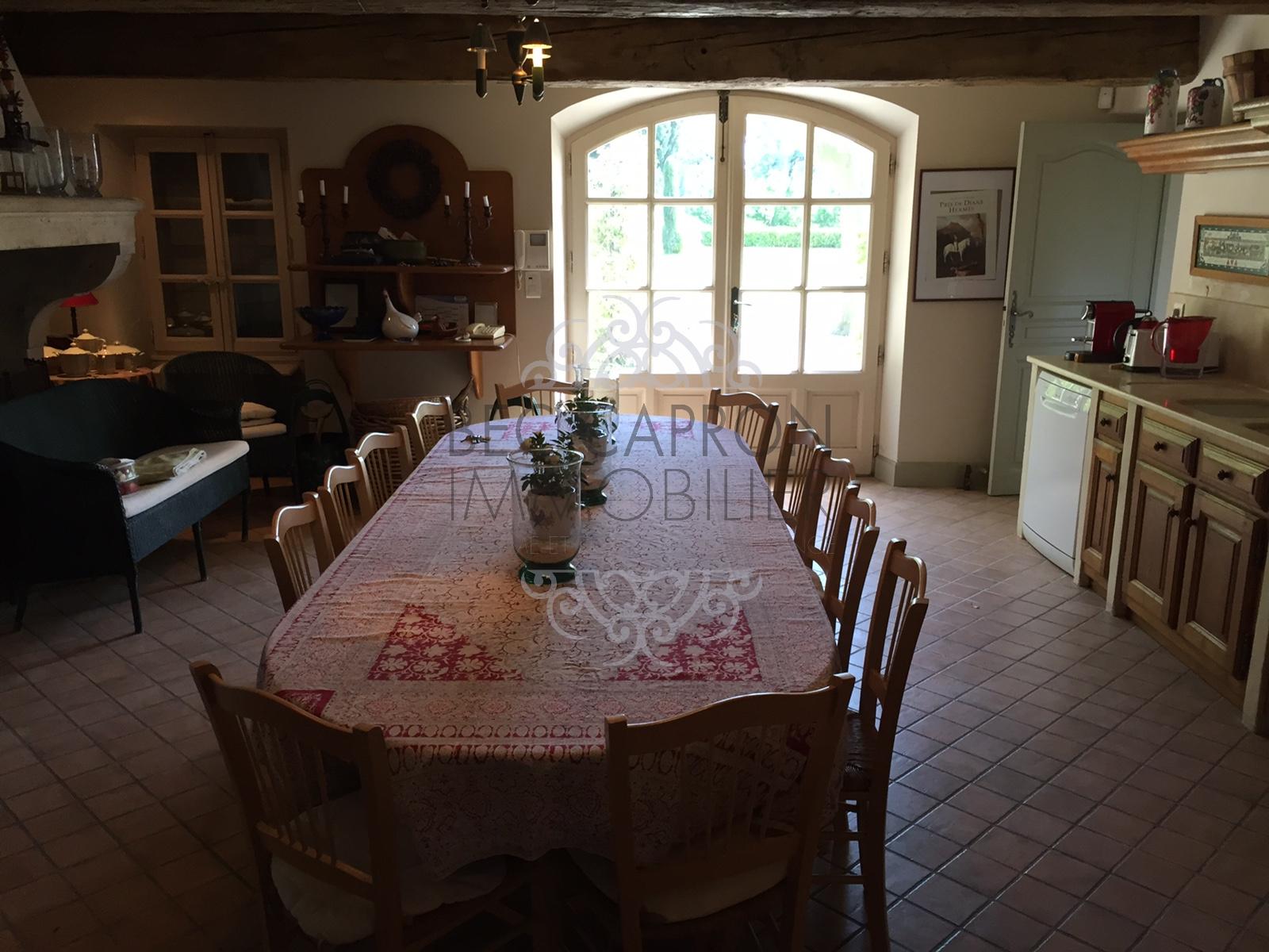 Cuisine grande table repas